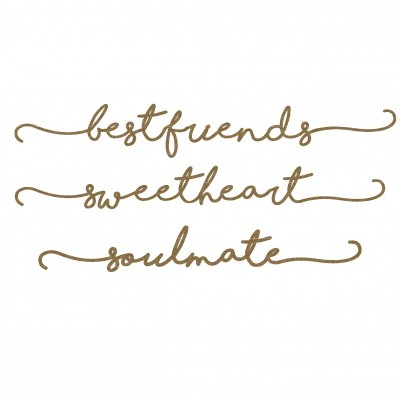 "Creative Embellishments - Chipboard ""Best friends"""