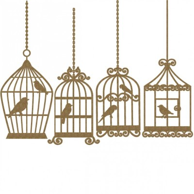 "Creative Embellishments - Chipboard ""Bird Cage 4 pièces"""