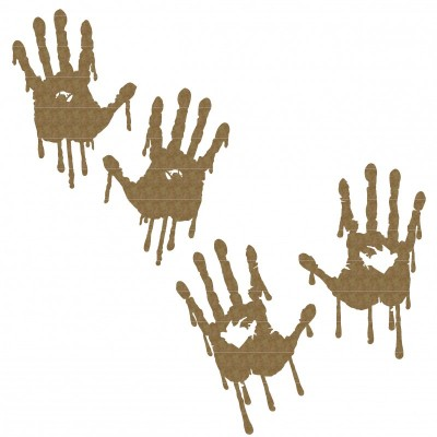 "Creative Embellishments - Chipboard ""Bleeding Hand"""
