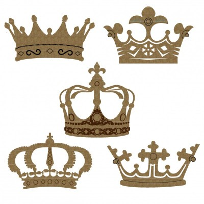 "Creative Embellishments - Chipboard ""Crown Set 1"""
