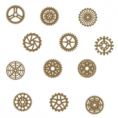 "Creative Embellishments - Chipboard ""Gear set 4"""