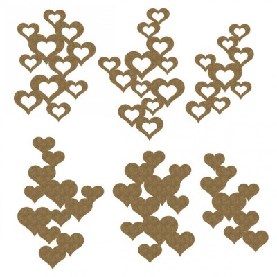 "Creative Embellishments - Chipboard ""heart pieces"""