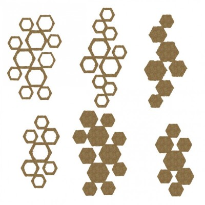 "Creative Embellishments - Chipboard ""hexagon pieces"""