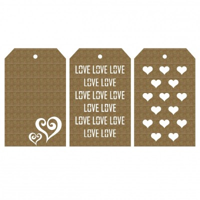 "Creative Embellishments - Chipboard ""Love Tags"""