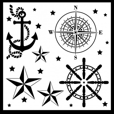 "Creative Embellishments: stencil ""Nautical"""