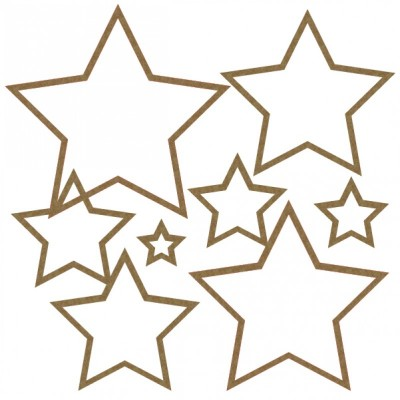 Creative Embellishments - Chipboard  «Nested Stars»