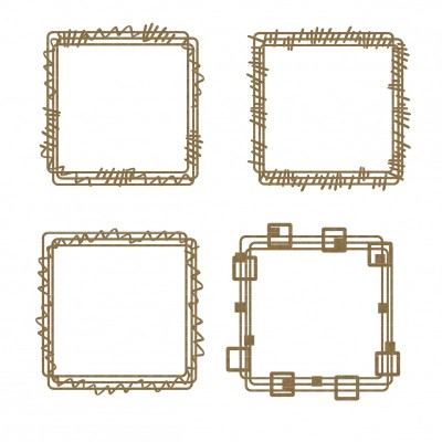 Creative Embellishments - Chipboard «Square doodle frames»