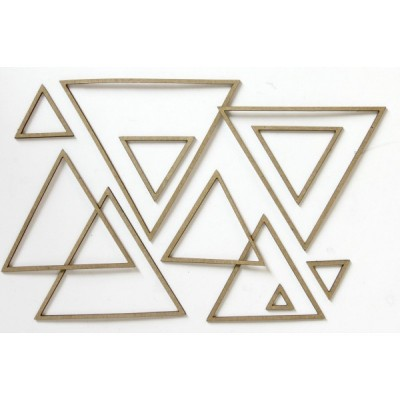 Creative Embellishments - Chipboard  «Nested Shapes Triangles»