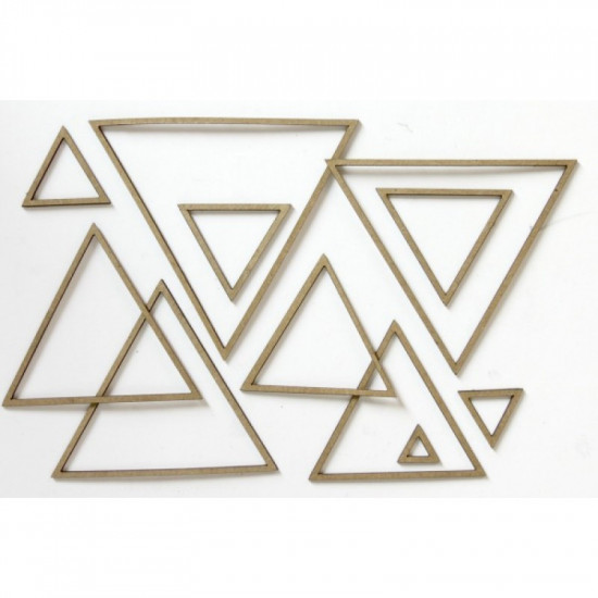 "Creative Embellishments - Chipboard ""Nested Shapes Triangles"""