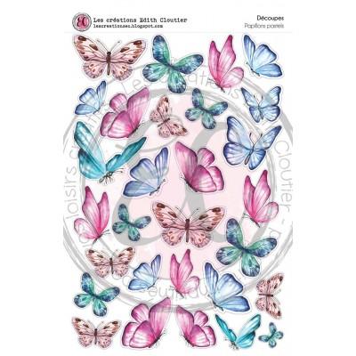 Créations ÉC - Dessins Cartonnés «Papillons pastels»
