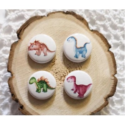 Scrap Accent - Badges modèle «Dinosaures»