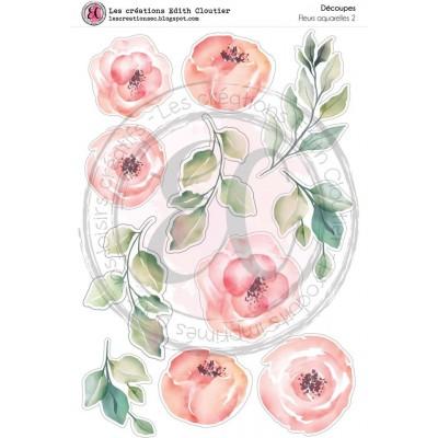Créations ÉC - Dessins Cartonnés «Fleurs aquarelles 2»
