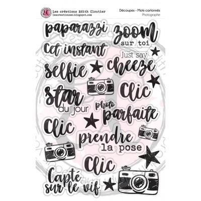 Créations ÉC - Mots Cartonnés «Photographe»