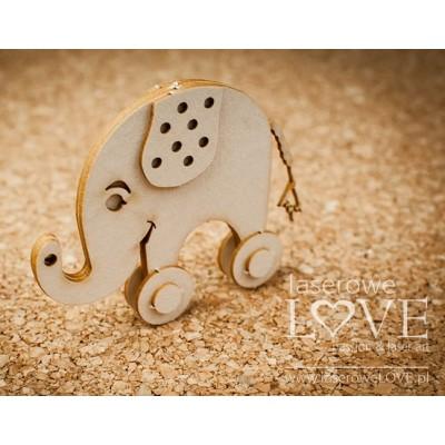 Laserowe - Chipboard «Éléphant 3D» LA18511