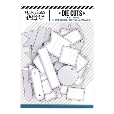 PRÉCOMMANDE-  Florilèges Design - Éphéméra «Etiquettes N°04 Gris Doux» 50 pièces