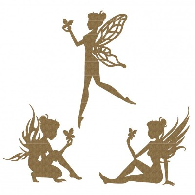 Creative Embellishments - Chipboard  «Fairy Trio»