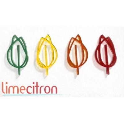 Lime Citron - Embellissement en acrylique «Feuilles» 5 pcs