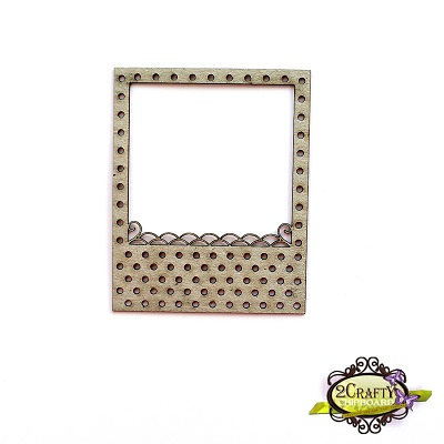 2 Crafty - Chipboard «Dotted Polariod Frame»