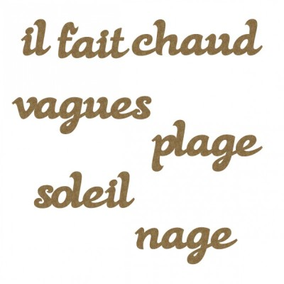 Creative Embellishments - «french beach words» 7 pièces