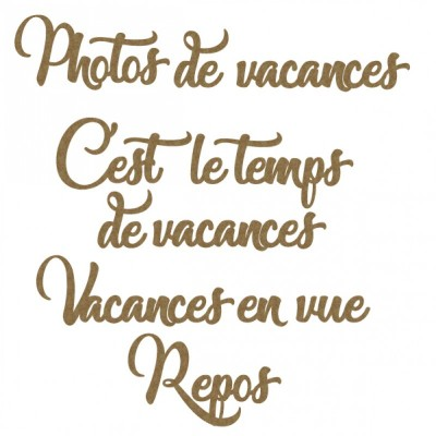 Creative Embellishments - «french vactaion word set» 12 pièces
