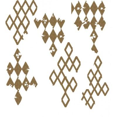 Creative Embellishments - Chipboard «harlequin»
