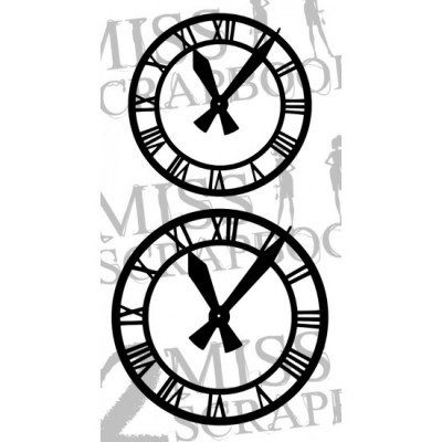 Les 2 Miss scrapbooking - Chipboard «Horloges x2»