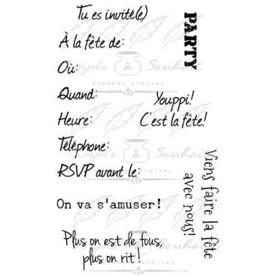 Simple à souhait - Estampes «Invitation»