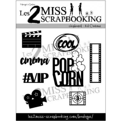Les 2 Miss scrapbooking - Chipboard «Kit cinéma»