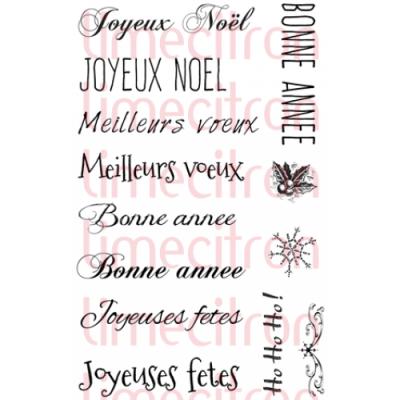 Lime Citron - estampe «Mini-kit Souhaits de Noël» 13 pièces