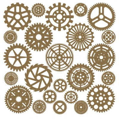 Creative Embellishments - Chipboard «Large Gear set» 24 pièces