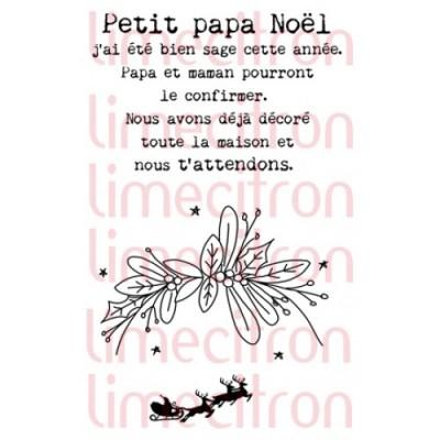 Lime Citron - estampe «Petit Papa Noël» 3 pièces