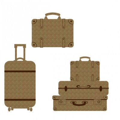 Creative Embellishments - Chipboard «Luggage»