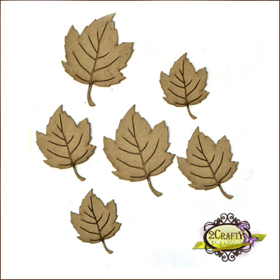 2 Crafty - Ensemble «Autumn Leaves» 6 pc