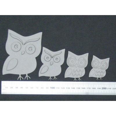 2 Crafty - Chipboard «Owls» 4 pcs