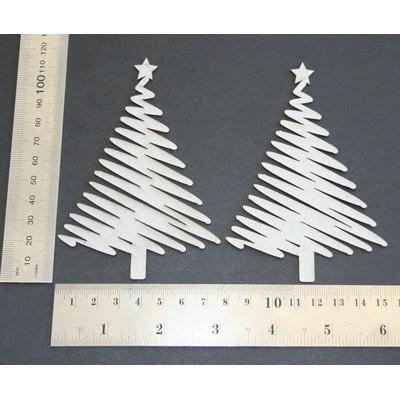 2 Crafty - Chipboard «Brushstroke Tree» 2 pcs