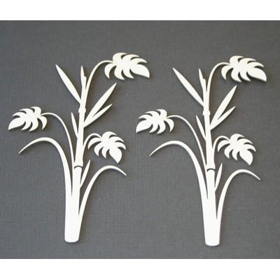 2 Crafty - Chipboard «Bamboo Palms» 2 pcs