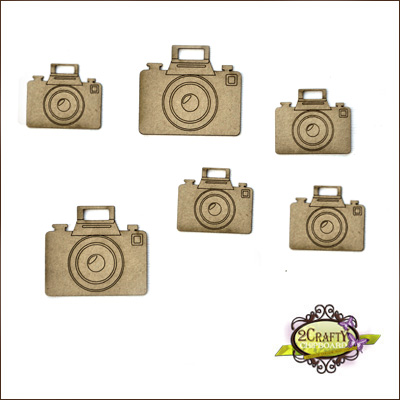 2 Crafty - Ensemble «Mini Cameras» 6 pc