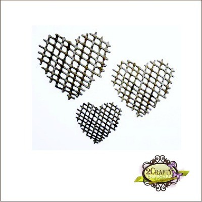 2 Crafty - Ensemble «Mesh Hearts» 3 pc
