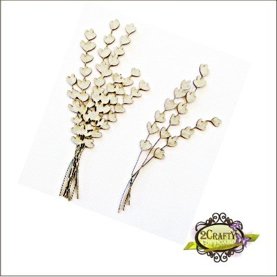 2 Crafty - Chipboard «Spring Flower Bunches» 2 pcs
