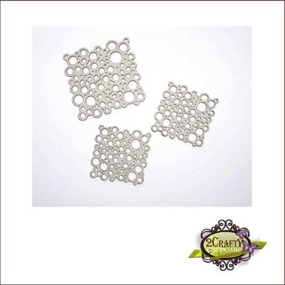 2 Crafty - Chipboard «Mini Bubble Squares» 3 pcs