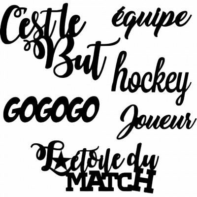"Les 2 Miss scrapbooking - Chipboard ""Kit Hockey"""