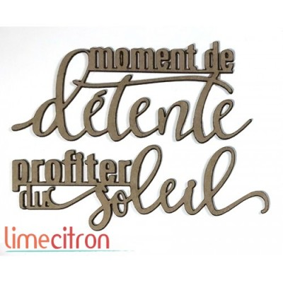 Lime Citron - Chipboard «Moment de détente»