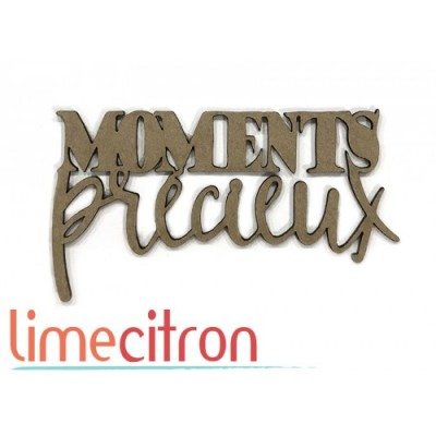 Lime Citron - Chipboard «Moments précieux»