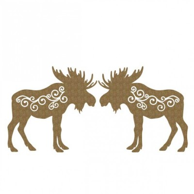 Creative Embellishments - Chipboard  «Moose flourish»