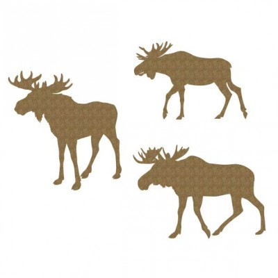 Creative Embellishments - Chipboard  «Moose set»