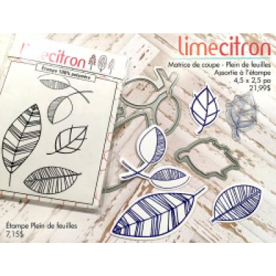 Lime Citron - Die modèle «Plein de feuilles»