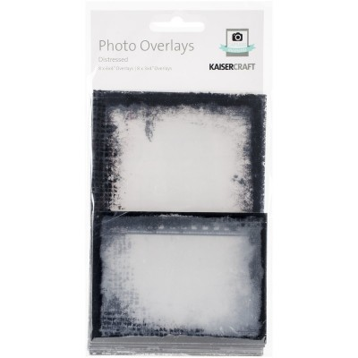 Kaisercraft - Photo Overlays - Distressed Black  (16 pièces)