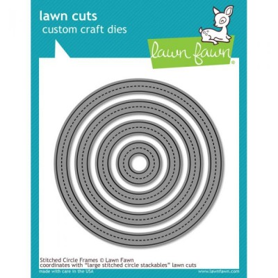 LAWN FAWN: Die - Stitched Circle Frames 4 pièces