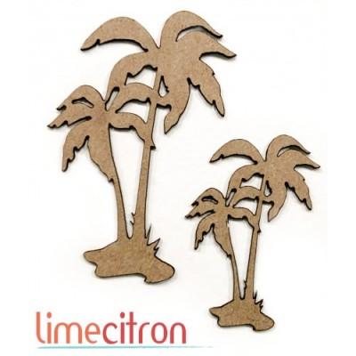 Lime Citron - Chipboard «Palmiers»