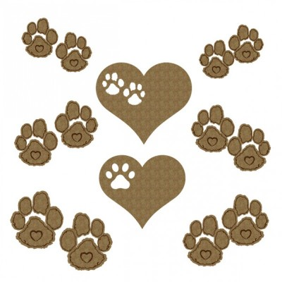 Creative Embellishments - Chipboard «Paw Print»
